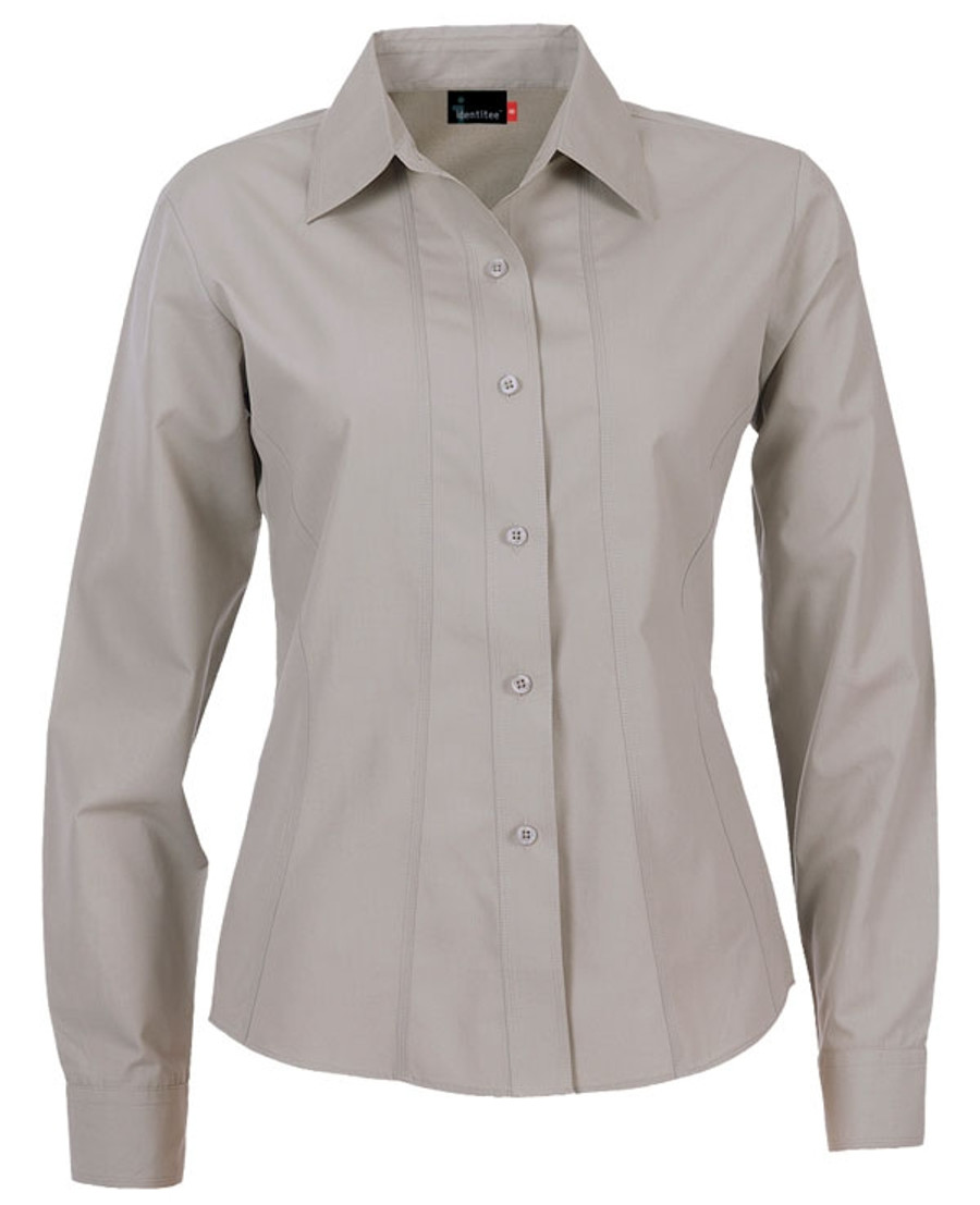 Ladies Aston L/S Sleeves Business Shirt (Stone)