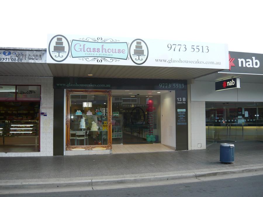 Glasshouse Cakes Shop Front Signage