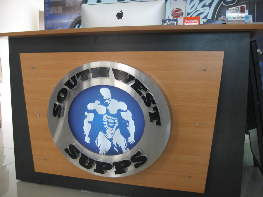 Southwest Supps Stainless Steel Reception Sign