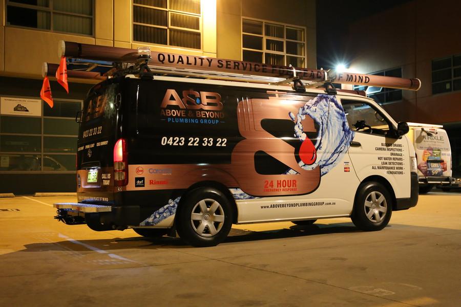 Above & Beyond Plumbing Van Wrap