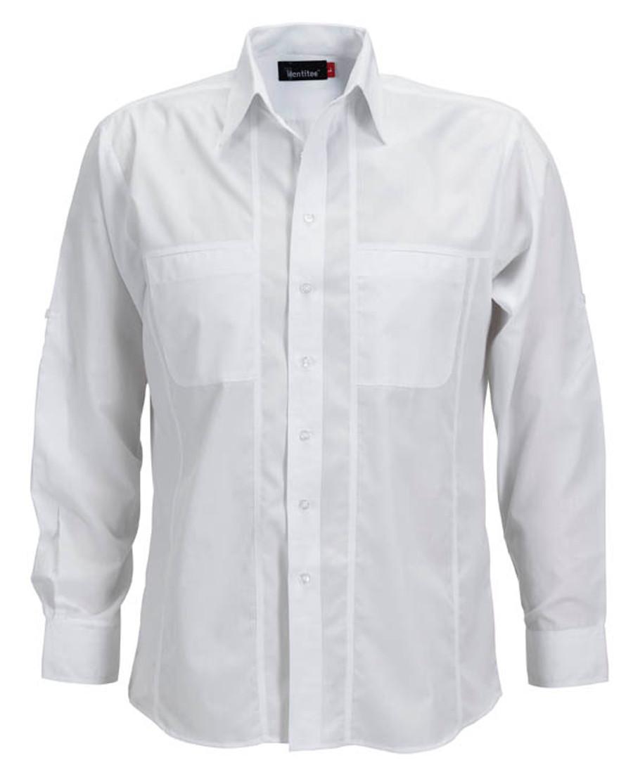 Mens L/S Aston Business Shirt (White)