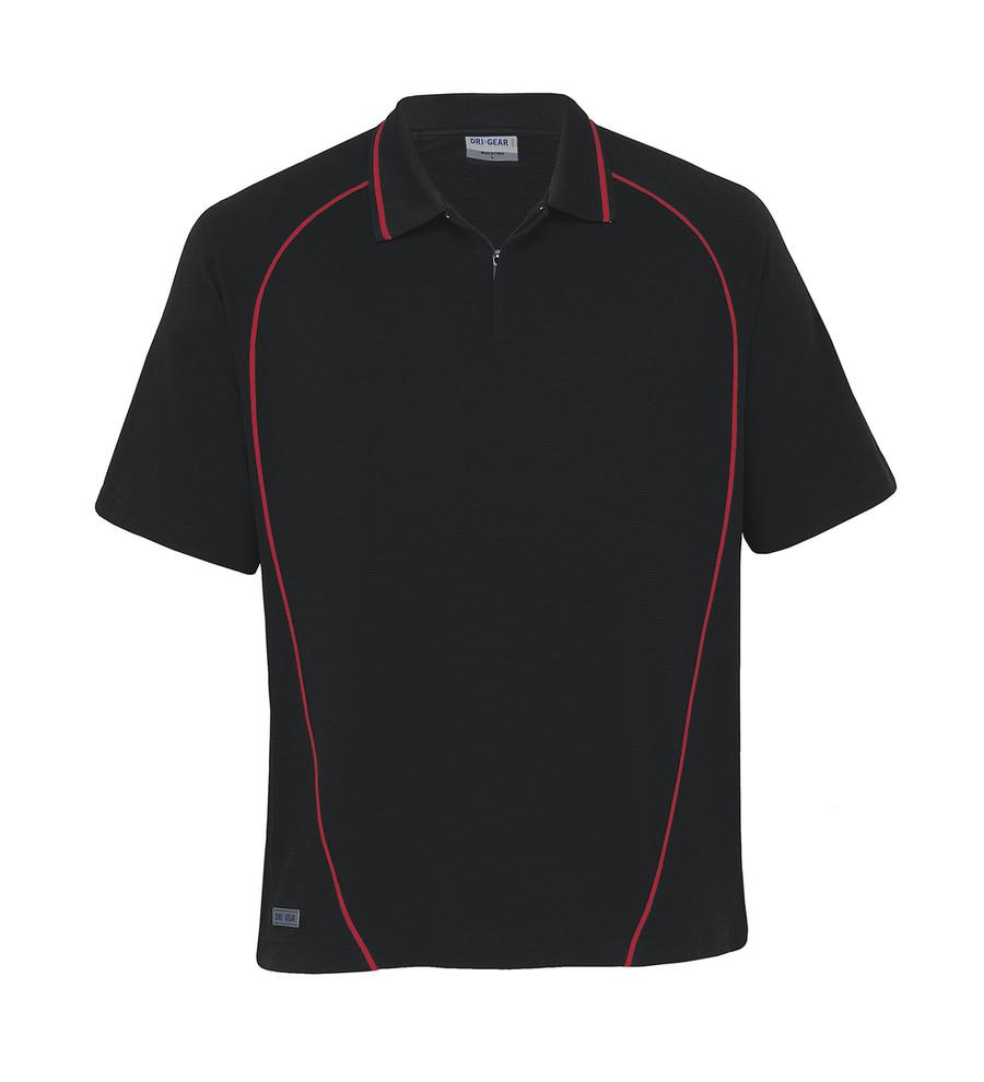 Piped Ottoman Instinct Polo (Black/Red)