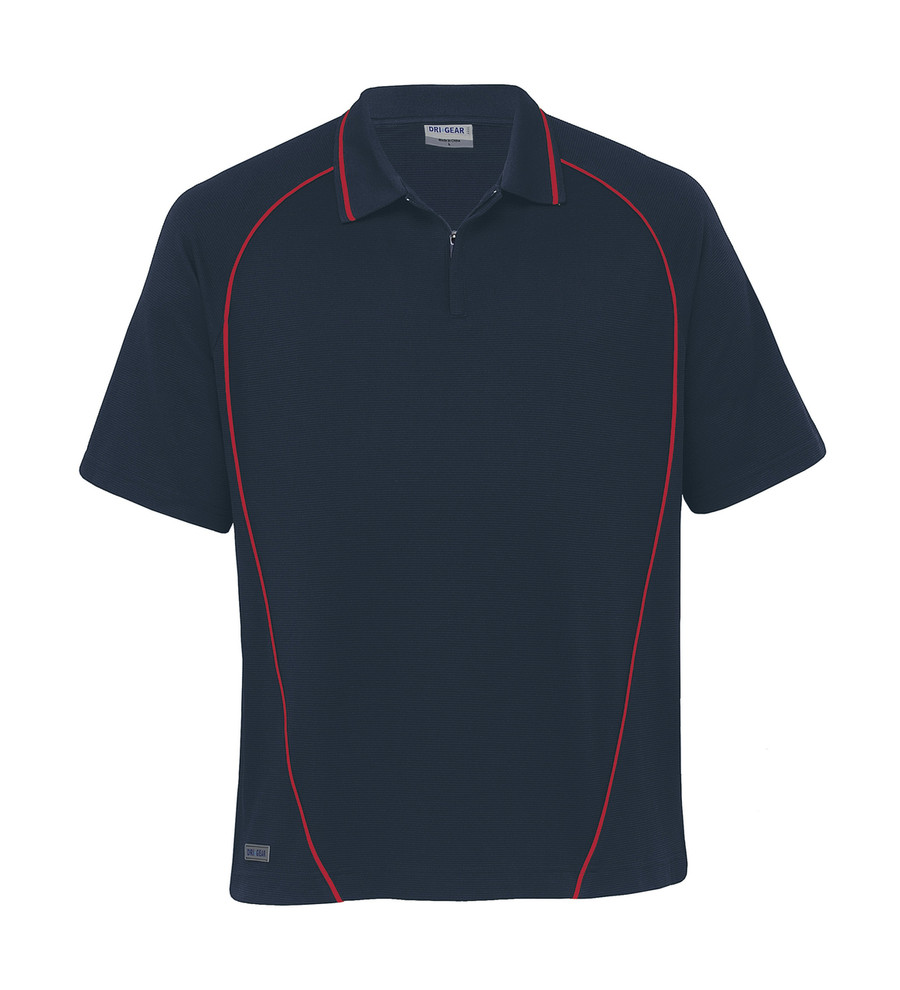 Piped Ottoman Instinct Polo  (Navy/Red)
