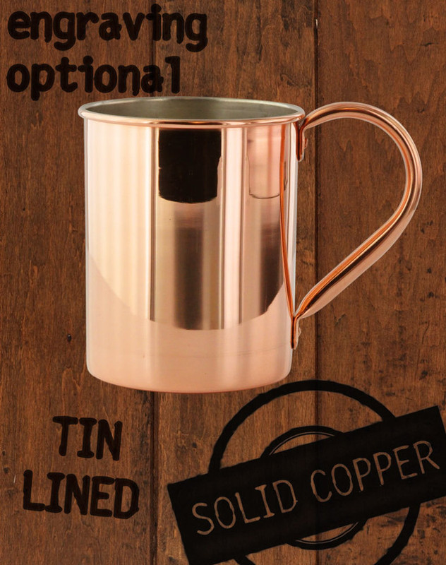 24oz Tin-Lined Solid Copper Moscow Mule Mug