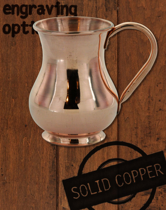 13.5 oz Solid Copper Moscow Mule Kettle Mug