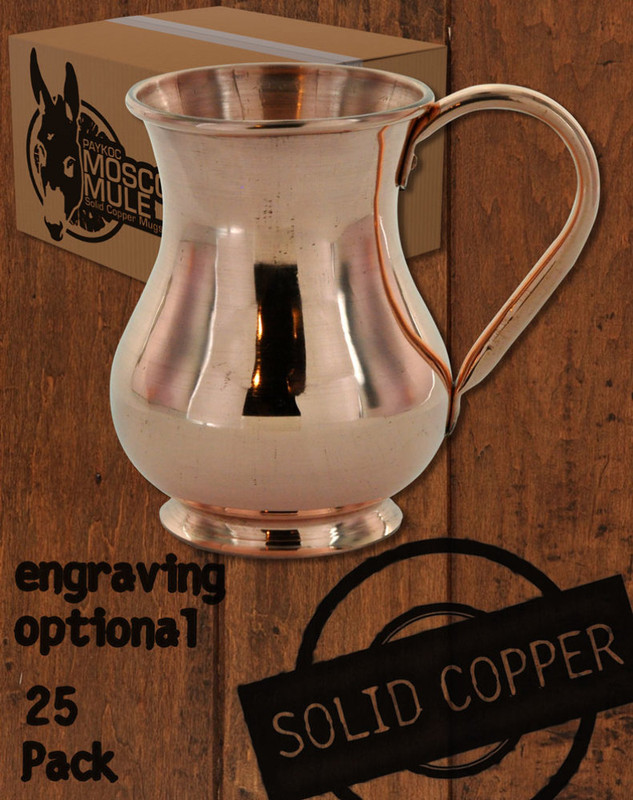 Wholesale 25 Pack - 13.5 oz Solid Copper Moscow Mule Kettle Mug