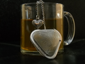 Heart shaped mesh tea ball infuser
