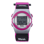 Wobl vibrating reminder watch by Pottymd.com in pink.