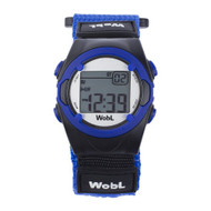 Wobl vibrating reminder watch by pottymd.com in blue.