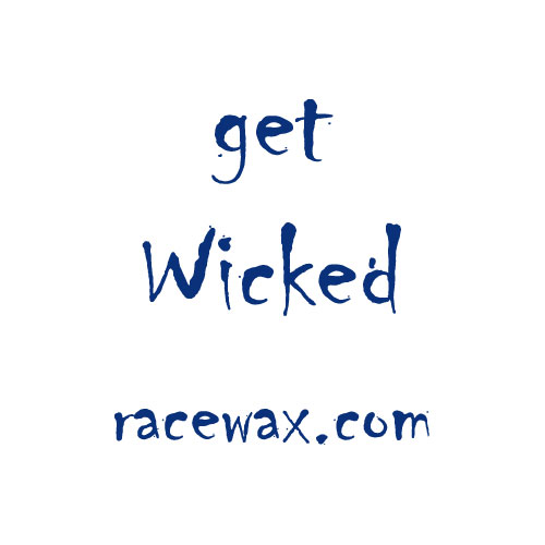 "Racewax.com Sticker ""get Wicked"""