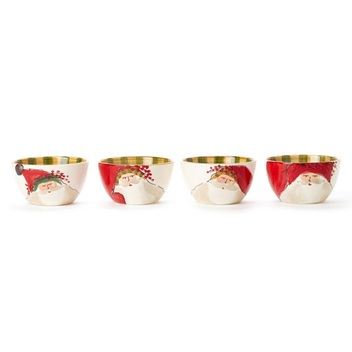 "Embrace the Christmas spirit with the Old St. Nick Assorted Cereal Bowls. Perfect for serving soups, cereals, and holiday treats, this assortment features whimsical designs inspired by childhood memories of Christmas in Italy. 5.5""D, 3.25""H OSN-78051"