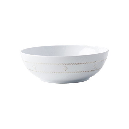 Berry & Thread Melamine Whitewash Coupe Bowl  № MA05/100 From Juliska's Al Fresco Collection- Trimmed with Juliska's  simple thread and adorned with a sprinkling of berries, this sturdy bowl from plumpuddingkitchen.com  was designed for durability with the adventurous entertainer in mind.