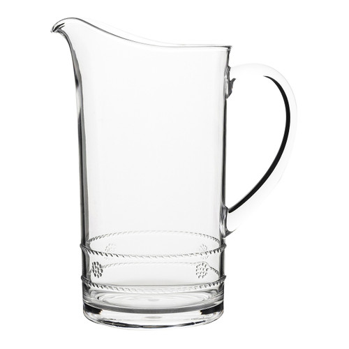 Isabella Acrylic Pitcher  № MA304/01  From Juliska's Al Fresco Collection- A pitcher perfect for outdoor summertime soirees in Juliska's iconic Isabella motif from plumpuddingkitchen.com, our acrylic was designed with the adventurous entertainer in mind.