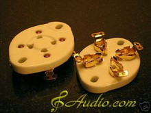 4-Sets Gold Plated 4 Pin Panel Mounted Tube Socket for 300B 2A3 811A