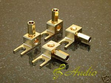 4-pcs Vintage Tube Amplifier Banana Plug Spade - Fisher