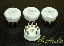 4 Piece Gold Plated 9 Pin PCB Mounted Tube Socket 12AX7