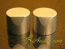 2 pcs 40mmD x 31mmL Silver Color Solid Aluminum Knobs
