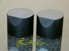 2 pcs 40mmD x 31mmL Black Color Solid Aluminum Knobs
