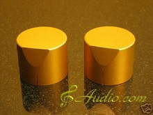 2 pcs 40mmD x 31mmL  Golden Color Solid Aluminum Knobs