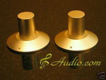 2 pcs 40mmD x 28mmL Gold Color Solid Aluminum Knobs