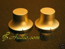 2 pcs 40mmD x 26mmL Gold Color Solid Aluminum Knobs