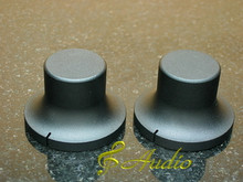 2 pcs 40mmD x 26mmL Black Color Solid Aluminum Knobs