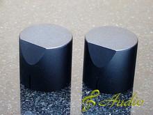 2 pcs 34mmD x 31mmL Black Color Solid Aluminum Knobs