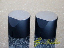 2 pcs 34mmD x 31mmL Black Color Solid Aluminum Knobs