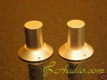 2 pcs 30mmD x 28mmL Gold Color Solid Aluminum Knobs