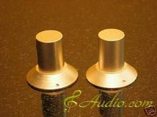 2 pcs 30mmD x 28mmL Gold Color Solid Aluminum Knobs