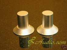 2 pcs 30mmD x 28mmL Silver Color Solid Aluminum Knobs
