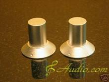 2 pcs 30mmD x 28mmL Silver Color Solid Aluminum Knobs