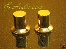 2 pcs 25mmDx25mmL Gold Plated Volume Knob