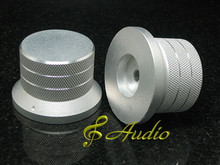 2 pc 48mmDx33mmL Silver Color Solid Aluminum Knobs