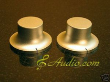 2 pc 48mmDx26mmL Silver Color Solid Aluminum Knobs