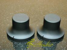 2 pc 48mmDx26mmL Black Color Solid Aluminum Knobs