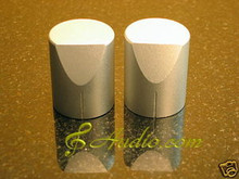 2 pcs 25mmD x 31mmL  Silver Color Solid Aluminum Knobs