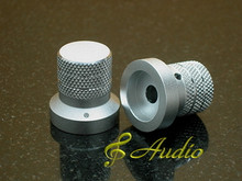 2 pc 26mmDx27mmL Silver Color Solid Aluminum Knobs