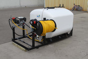 500 Gallon, Fiberglass Tank, Jet Agitation, Electric Reel, Skid Mounted