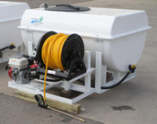 200 Gallon - Pest Control Skid Sprayer - Jet Agitation - Steel Frame - Pickup Mount - Electric Reel - D252 Pump