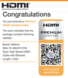 Certified Premium HDMI Cable