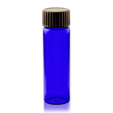 2 Dram Cobalt Blue Glass Vial - w/ Cap