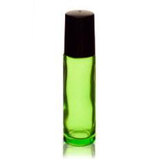 1/3 oz (10ml) GREEN Glass Roll on Bottles with Metal Ball