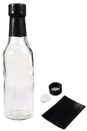 5 oz clear glass woozy bottle with 24-414 neck finish