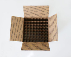 Corrugated Box (USPS LG) with 64 Dividers (Fits 64 - 30ml or 15ml Bottles)