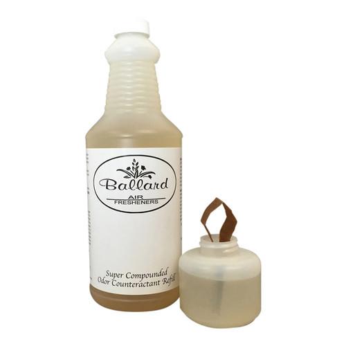 Ballard liquid air freshener refills in quart containers.