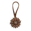 Yule Window Curtain Holdback Tieback, Decorative Magnetic Clip Drapery Tie Back, Elegant Bling Diamond Floral Design, Set of 2