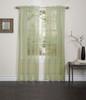 Lisa Sheer Voile Window Curtain Panel - Sage
