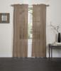 Lisa Sheer Voile Window Curtain Panel - Chocolate