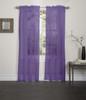 Lisa Sheer Voile Window Curtain Panel - Purple